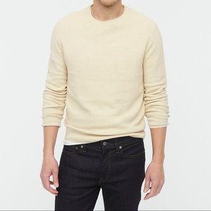 J. Crew Cotton-silk pique sweater heathered sand